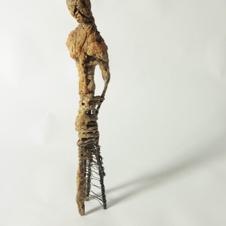 2013, Hierro y cera, 50 x 10 x 10 cm