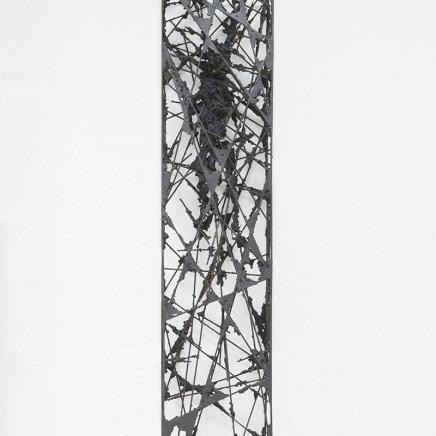 Acotación II, 2015, hierro y epoxi, 130 x 30 x 15 cm