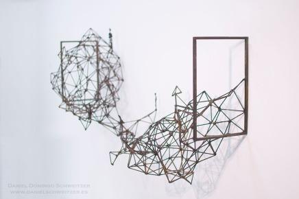 WEB 1. Daniel Domingo Schweitzer, Estratos, 2016, hierro, 60 x 120 x 36 cm. (pieza de pared)