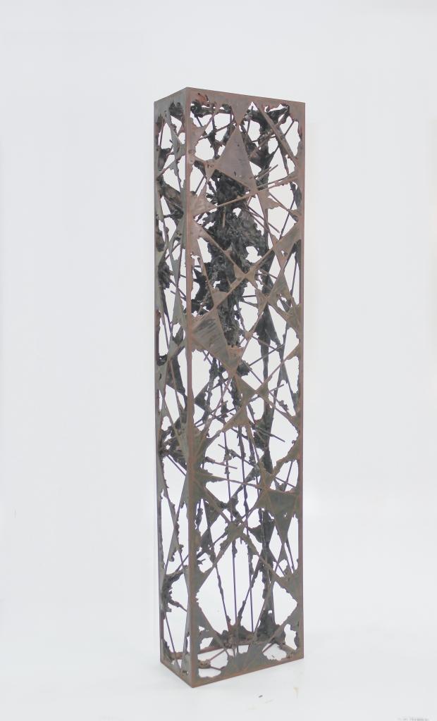 Acotación IV, 2015, hierro y epoxi, 130x15x30cm (3)